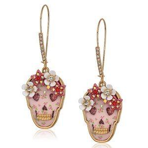 Betsey Johnson | Floral Skull Drop Earrings